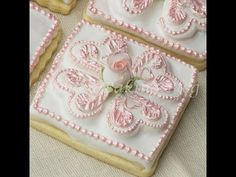 Decorated Tufted Heart Sugar Cookie Tutorial - YouTube