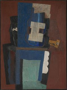 Guitar and Clarinet on a Mantelpiece, 1915 Pablo Picasso