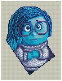 PDF Cross Stitch pattern 0038.Sadness Inside Out par PIXcross