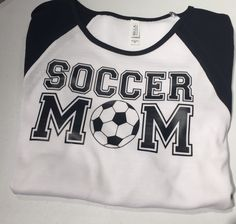 A personal favorite from my Etsy shop https://www.etsy.com/listing/248130374/soocer-mom-raglan-34-sleeve-shirt-womens