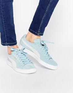 Imagen 1 de Zapatillas de baloncesto de ante azul claro de Puma