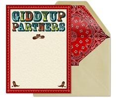 Evite Western Party Giddy Up Invitation