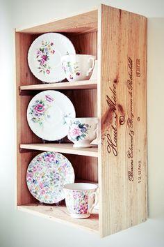 Wine box shelves!