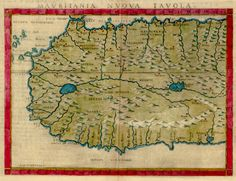 A map of West Africa based on Ptolemy's Geography by Girolamo Ruscelli, 1561