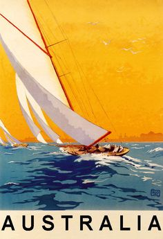 La Baule The Beach of the Sun Sailing Sailboat Sport France Tourism Travel Vintage Poster Repro FREE Old Poster, Retro Poster, Poster Vintage, Vintage Travel Posters, Poster Wall, Poster Prints, Travel Ads, Travel And Tourism, Paris Travel