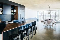 Awesome kitchen and all round great house.   Nook House | Uncrate