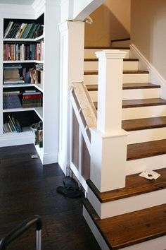 Stairway Remodel.     Lets get rid of that awful carpet. :-)