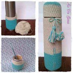 Mate decorado en crochet