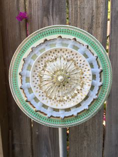 Glass Plate Flower Vintage Glass Mint to Be by FancysGarden