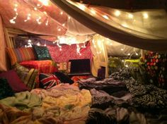 Don't resist the urge hibernate. | 21 Blanket Forts To Shelter You From Adulthood