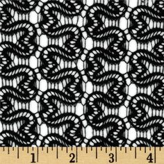 Crochet Lace Black - $9.98/yd - 100% polyester