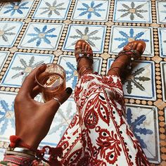 Early Saturday Ataï ...#bakchicontour #tiles #morning #marrakech