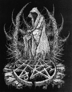 Altar of madness. Dark Artwork, Dark Art Drawings, Chicano Drawings, Arte Horror, Horror Art, Heavy Metal Art, Black Metal, Gothic Fantasy Art, Satanic Art