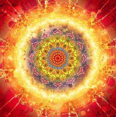 Flower Chakra Mandala by Gabriel Sampad Arte Chakra, Chakra Art, Yoga Studio Design, Sacred Art, Flower Of Life, Psychedelic Art, Fractal Art, Spiritual Awakening, Sacred Geometry