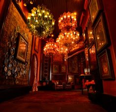Inside Sabyasachi's new dream store in India -                  Vintage tapestries and hand-painted posters decorate the walls.
