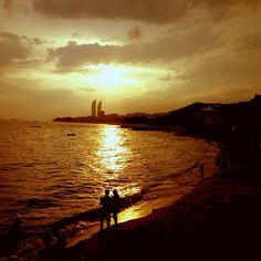 夕阳下的珍珠湾#Xiamen #PearlBeach