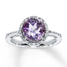 my dream engagement ring... platinum band with amethyst stone nd diamond studs...!!