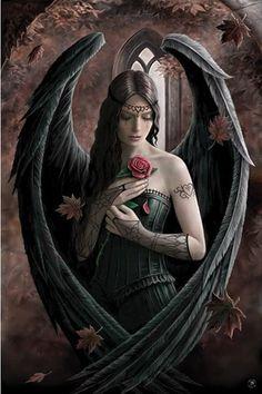 Dark Fantasy Art, Fantasy Artwork, Fantasy Art Angels, Fantasy Art Women, Gothic Artwork, Dark Gothic Art, Fantasy Fairies, Final Fantasy, Dark Fairies