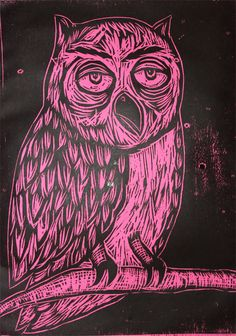 Owl woodcut- Sean Starwars