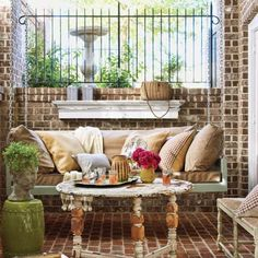 Easy (and affordable!) DIY hanging porch swing. | Photo: Tria Giovan | thisoldhouse.com