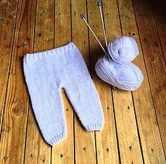 Pantalon bébé tuto tricot facile