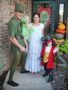 familia disfrazada peter pan - Buscar con Google