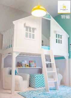 Tempat Tidur Anak Tingkat Putih Terbaru Model Rumah