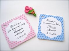 Baby shower favor tags custom shower tags party by PaperLovePrints, $11.50