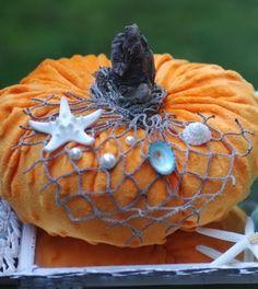Top Coastal Pumpkins Decorated with a Beach