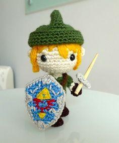 MAKE   How-To: Amigurumi Link, from Legend of Zelda  Wist niet ofdat deze stiekem toch tot de awesome suff behoord whaa! Cool