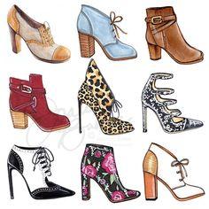 Fashion Week Illustration Posts 32 New Ideas Fashion Illustration Shoes, Illustration Mode, Fashion Design Drawings, Fashion Sketches, Trendy Fashion, Fashion Art, Fashion Drawing Dresses, Shoe Sketches, Dolce E Gabbana