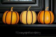 Ric Rac pumpkins - such an easy, cute idea.