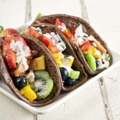These Fruit Tacos Offer a Unique Take on the Classic Savory Dish #desserts trendhunter.com