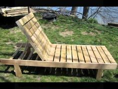 Items similar to Outdoor Chaise Lounge, Made in Maine from Recycled Wood Pallets on Etsy Pallet Lounge, Patio Chaise Lounge, Chaise Lounges, Outdoor Daybed, Outdoor Chairs, Outdoor Decor, Outdoor Pallet, Outdoor Sheds, Outdoor Rooms