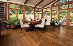 Beautiful Hardwood in a breakfast nook
