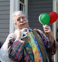 PATCH ADAMS   He is an American physician, social activist, citizen diplomat and author. He founded the Gesundheit! Institute in 1971. Each year he organizes a group of volunteers from around the world to travel to various countries where they dress as clowns in an effort to bring humor to orphans, patients, and other people. His life inspired the film Patch Adams, starring Robin Williams.