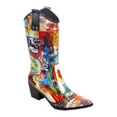 Cowgirl Style Rain Boot - Giddy Up