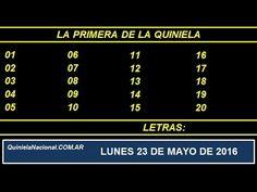 Quiniela Nacional La Primera Lunes 23 de Mayo de 2016 www.quinielanacional.com.ar