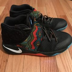 official photos 12414 a92c7 Shop Kids  Kyrie Irving Black Orange size Sneakers at a discounted price at  Poshmark. Description  Like new Kyrie Irving basketball shoes.
