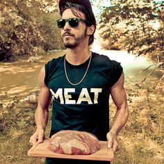 Meat Tee, 24,50€, now featured on Fab.