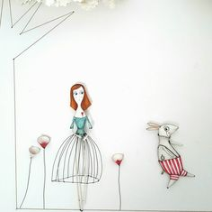 """Sbucó correndo un Coniglio Bianco.."" #regalispeciali #whitrabbit #papiermache #aliceinwonderland #cartapesta #weddingday"