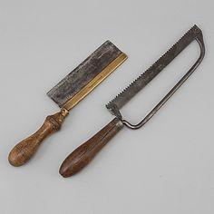 SÅGAR, 2 st, smide, 1800-tal. - Bukowskis Finland, 19th Century, Carving, Iron, Dreams, Tableware, Garden, Dinnerware, Garten
