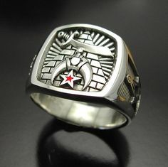 Shriner Pyramid Ring in Sterling Silver ~ Style 007 - ProLine Designs