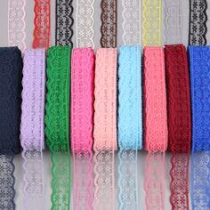 10 Yards//Lot 3//4 Inch 20 Mm Wide Handicrafts Embroidered Net Lace Trim Ribbon DIY Wedding//Birthday//Christmas Decorations Black
