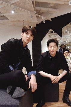 Sehun and Junmyeon | EXO