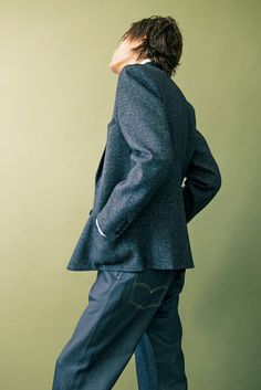 Junya Watanabe Man blazer and jeans (Photo: Clement Pascal for The New York Times)