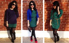 1 dress, 3 ways to wear it.like the restyle.