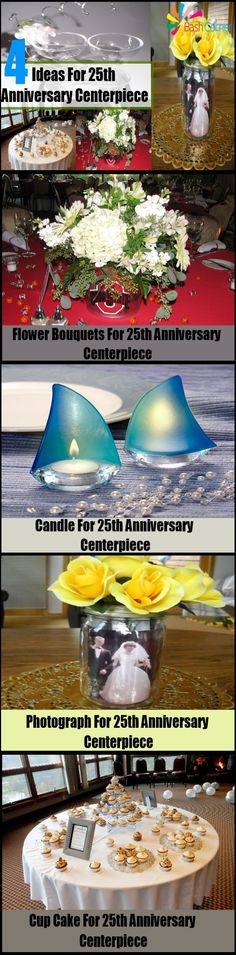 Simple Ideas For 25th Anniversary Centerpiece