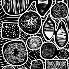 'Black and white pattern - linogravure style' by bicone White Patterns, How To Draw Hands, Black And White, Abstract, Artwork, Prints, Style, Lino Prints, Summary