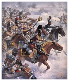 Russian cavalry charge the French at Austerlitz. info courtesy of R. da Mota.